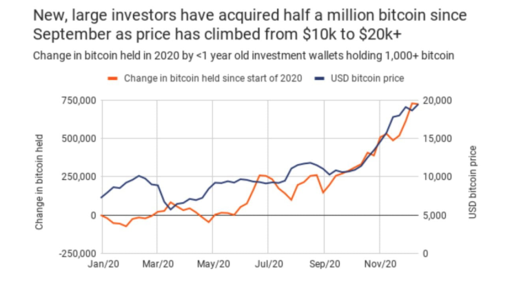 Since the beginning of autumn, whales have purchased another 500,000 BTC