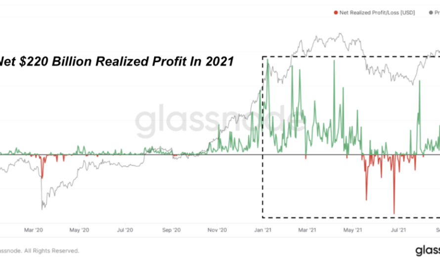 $ 220 billion in realized profit for Bitcoin in 2021